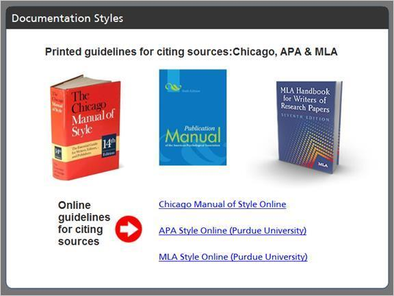 2.2.10 Documentation Styles The three documentation styles most often used at Palomar are APA, MLA and