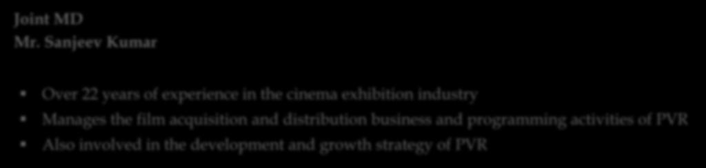 in the movie exhibition industry Recognised as the pioneer of