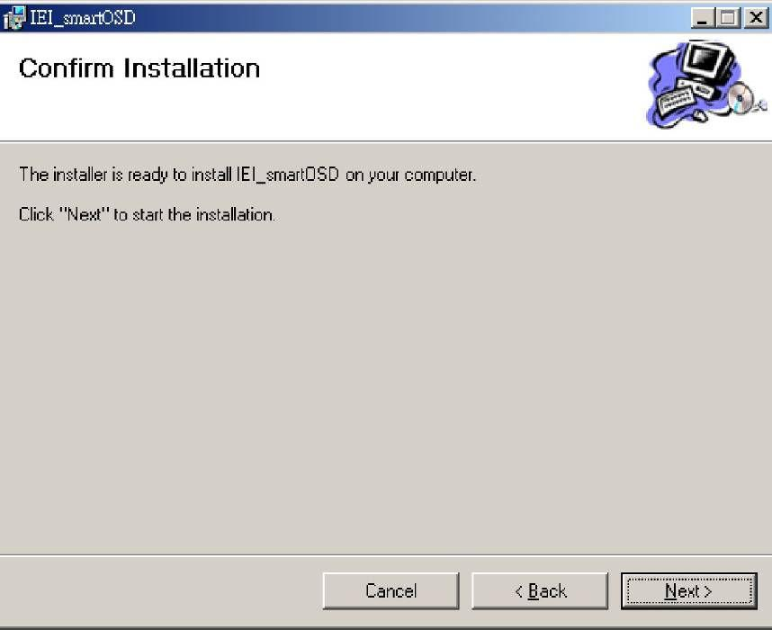 Step 6: Select the installation folder from the screen shown above. Step 7: Click Next to continue. Step 8: The screen shown below appears.