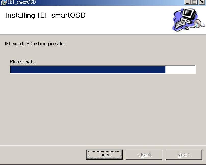 Figure 4-8: SmartOSD Installing Step 11: When the installation is complete the screen below