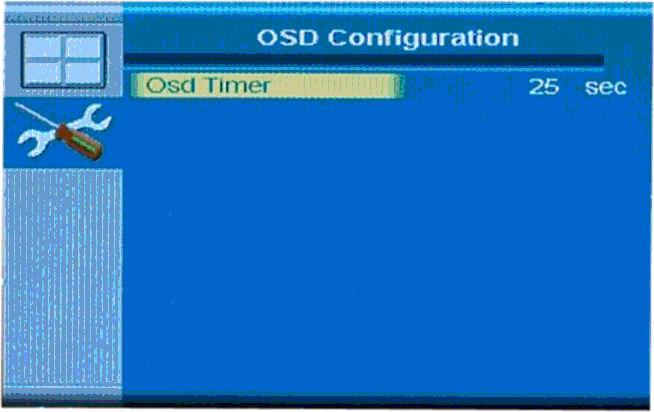 4.3.5.3.1 OSD Configuration The OSD configuration menu (Figure 4-21) adjusts the rotation of the OSD, and how long it displays for.