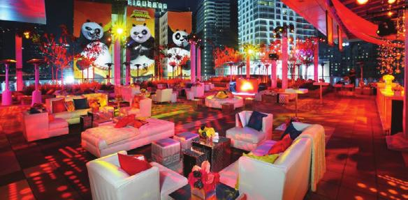 Situated underneath the stars and city lights, the Rooftop Terrace is