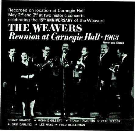 "CIRCLE 60 ON READER -SERVICE CARD Pre -recorded 4 Track Stereo Recorded en location at Carnegie Hall May 2 "" anc 3RD at two historic concerts celebrating the 15"" ANNIVERSARY of the Weavers THE WEAVER."