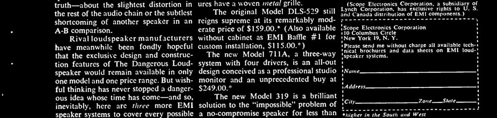 * And the new Model 630 at last makes available EMI sound quality in a system small enough to fit any bookshelf CIRCLE 43 ON READER -SERVICE CARD -for only $69.