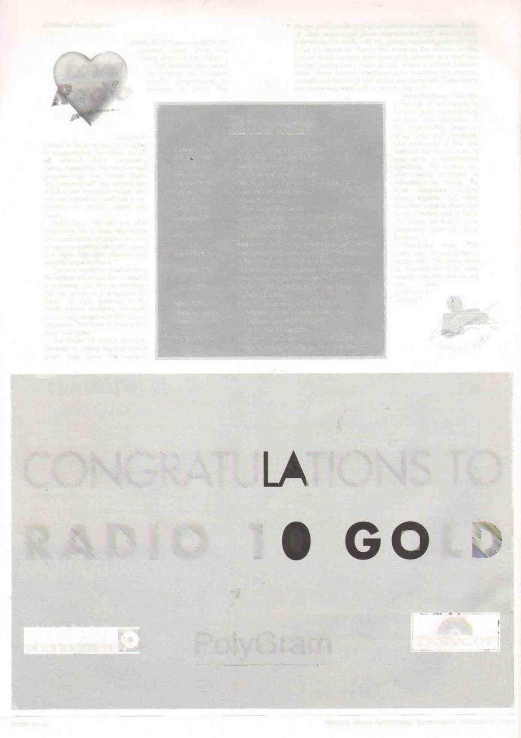 (continued from page 4) Love Radio approach proved to be a success. In addition to programming, the station included editorial about composers, events, musicians, the product and programming.