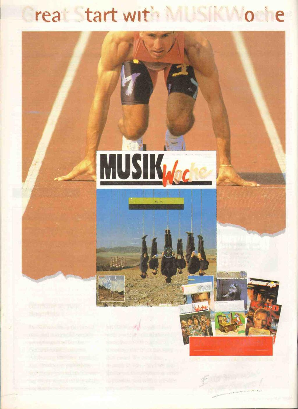 Great Start with MUSIKWoche la. Oktober 1993-I. Jahrgang - DM 6,- 7 C TH F. NEW ROJECT OF ENTERTAINMENT MEDIA VERLAG GmbH a co.