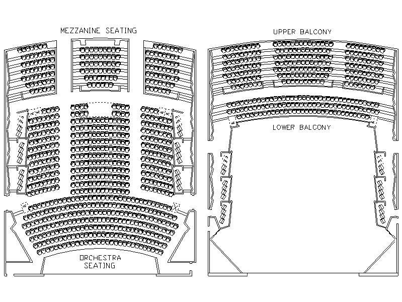 Stafford Centre Performing Arts Theatre Seating Capacity House Capacity 1154 Pit 50 Orchestra Seating 585 Upper Balcony Seating 210 Mezzanine Seating 154 Lower Balcony Seating 107 Orchestra Box
