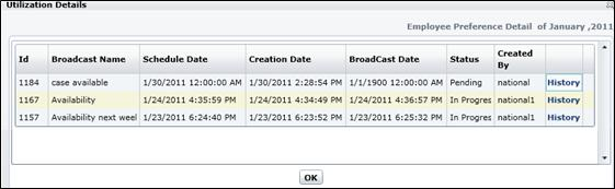 After finalizing filter selections, click [Show] to generate the Utilization report. 3.