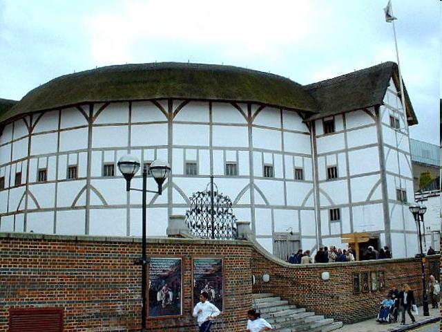 Globe Theatre: Bankside theatre built by Lord Chamberlain