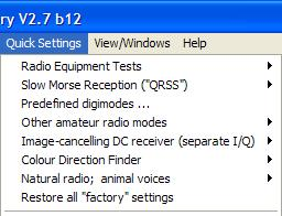 Setting SL in default mode (Factory Settings) Every time SL is started, it sets the previous set-up that existed at turn-off.
