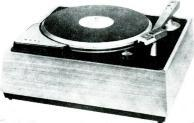 "Dimensions are 13%"" x 14%"" x 6% "". Argonne Electronics Mfg. Corp., 165-11 South Road, Jamaica 33, N. Y. CONNOISSEUR Transcription Turntable. Built throughout to professional standards."