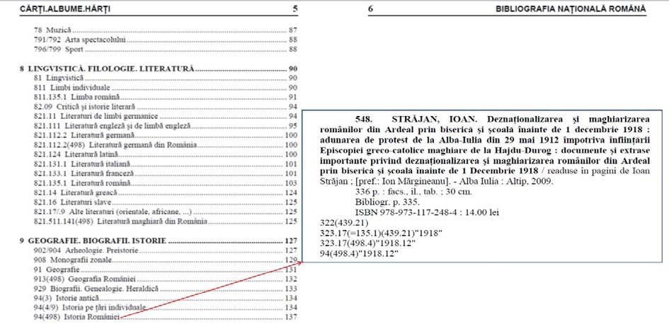 Figure 12 Example of UDC application in the NB of Macedonia Romania 66 Bibliografia Naţionala Română - National Bibliography of Romania The entries of the