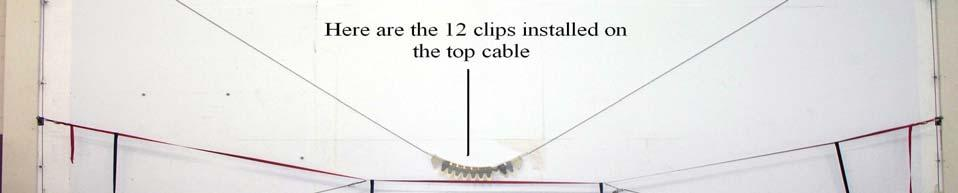 In order to accomplish this you will need to lower the top cable by disconnecting the end of the cable from the