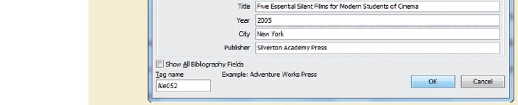 in the Citations & Bibliography group, and then select the