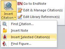 Click this to display the CWYW ribbon: Inserting references Open Word and type a short paragraph of text, ready to add citations Step 1: Insert