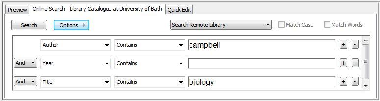 In this example we want to find Campbell s Biology textbook in its 8th edition (2008).