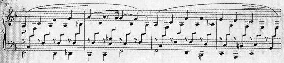 and ends in A Major (m. 20). In comparing the other A sections to the first, I find them to be diminished in length. For example, the second A (refrain) is 12 measures long (mm.