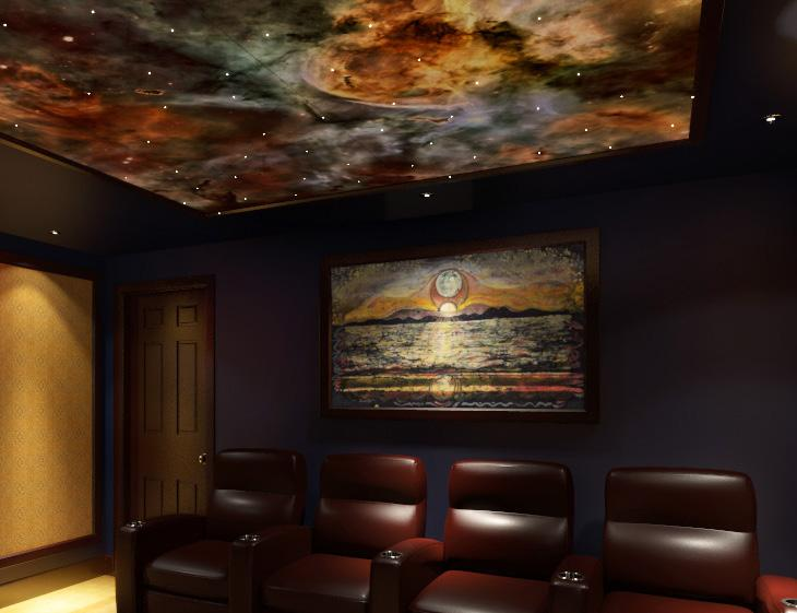 Cinemascapes Cinema Design Group Int l delivers a method by which you can improve the acoustics in your theater, media room, lobby, or family room with beautifully framed acoustic panels