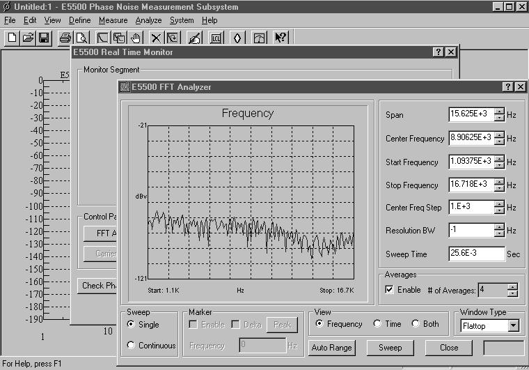 Real-Time Monitoring of Time and Frequency Noise Data Real-time monitoring of the noise signal is fast and easy.