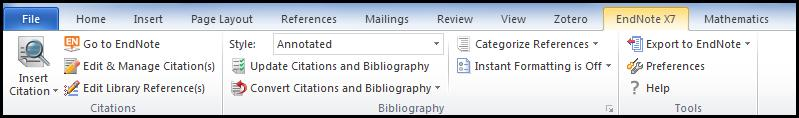 Creating Citations and Bibliographies EndNote includes Cite While You Write features that allow you to