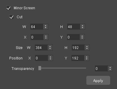 Auto Fit to Screen : Input contents are completely scaled to the screen body size, automatically fitting the screen size. This mode is suitable for full-screen display of the display contents.