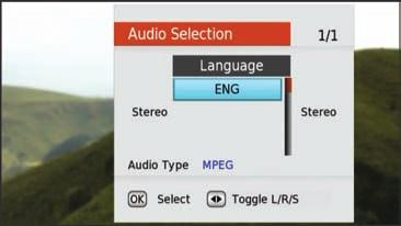 User Options User Options can be accessed from watching a channel and has options to turn on subtitles, audio description and access network information.