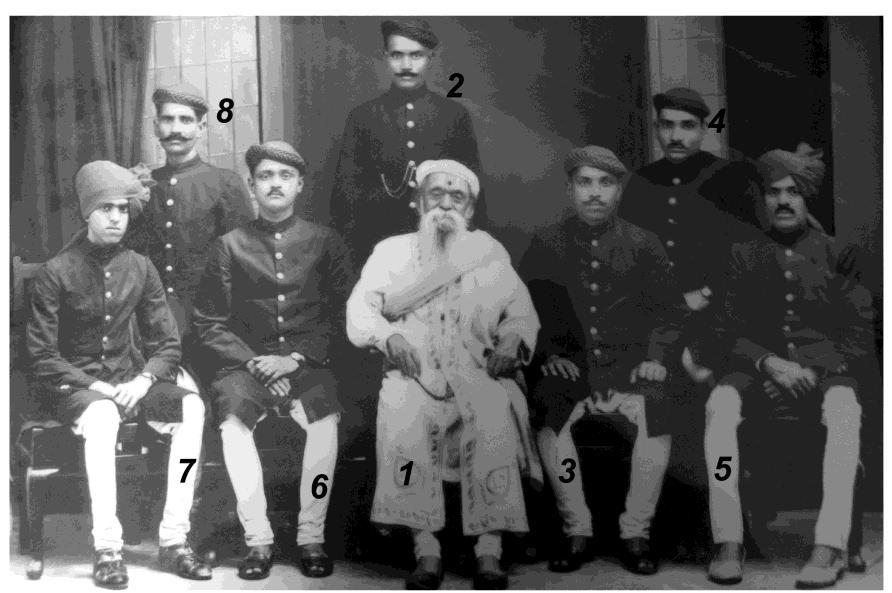 In Photograph 1.Pandit Ganpatrao Vasaikar, 2. (don t recognize) 3.Shri Dnyanoba Gurav, 4.