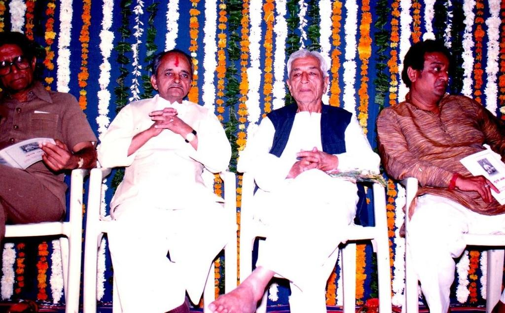 In photo From Left-Prof.Markand Bhatt, Prof.S.K.