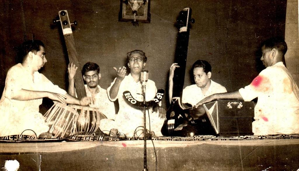 5:23 Pt.Raghunath D. Potdar. Pt.Raghunath potdar vocal artist in center Pandit Raghunath Potdar, born on 20 th August 1929, in Bedag village, in Miraj Taluka, dist. Sangli, where the great maestro Pt.