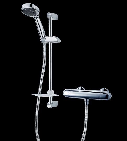 Unichrome Dart Exposed/Built-in mixer Code: UNDATHCM Unichrome Avon Dual Control This Edwardian-inspired mixer and 5 fixed head shower rose, lends a period elegance to your bathroom.