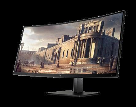 HP Z Specialty HP Z38c Completely immerse yourself in the expansive elegance of the HP Z38c Curved Display. Form meets function with crisp, panoramic views so you can stay focused on your work.