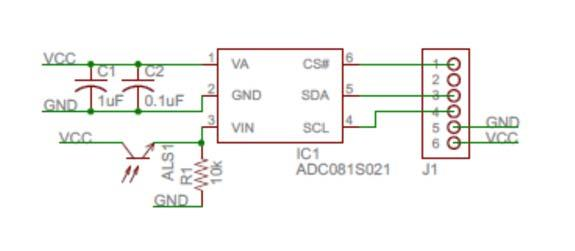 PmodALS schematic and module from Digilent CS,