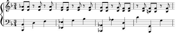 The hemiola 3:2 relationship: Three beats of