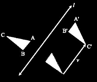 A glide reflection is a type of opposite isometry 77 of the Euclidean plane that combines a reflection over a line with a translation along that line.