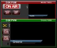 "When the DSK Program is illuminated (""ON AIR"") the image in that monitor will display on the main PROGRAM output monitor."