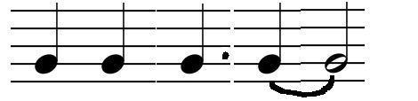 The last verse shows a variation in the first line where, the syncopated rhythm changes from to.