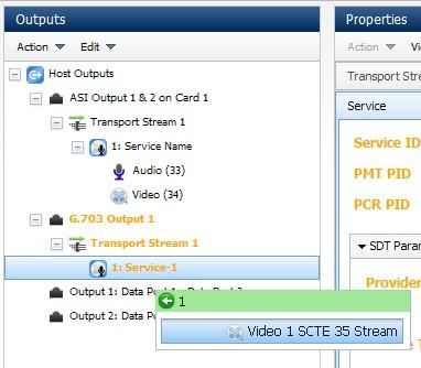Web GUI Control 4. Select Edit > Paste from the widget menu bar. Note: To select more Transport Streams, services or components, press and hold the Ctrl key then click on the appropriate items.