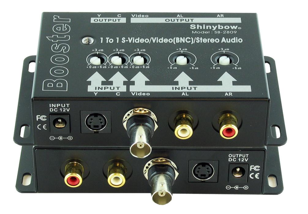 Input: S-Video/Composite/Audio Power Supply DC 12V@420mA Rear: Video RCA connectors Output: S-Video/Composite/Audio Power Supply: