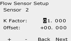 NOTE: n alarm will show if a duplicate sensor decoder address is entered for more than one flow sensor. See Section, larm onditions for more details.