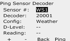 ll The Holding current is typically 10 m or less. reading of 50 m or greater typically indicates a shorted decoder output. Ping Sensor Decoder Turn the controller dial to Test ll stations/heck System.