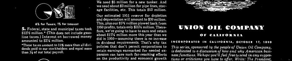 But here's the rub: In order to meet the requirements of the present national emergency, we estimate that we should spend $25 million drilling during 1951.