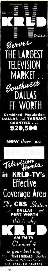 tolestatus Mystery Programs Covered By Advertest Survey (Report 160) THE LARGEST TELEVISION MARKET.. DÁl Á a FT WORTH Combined Population DALLAS ami TARRANT COUNTIES.