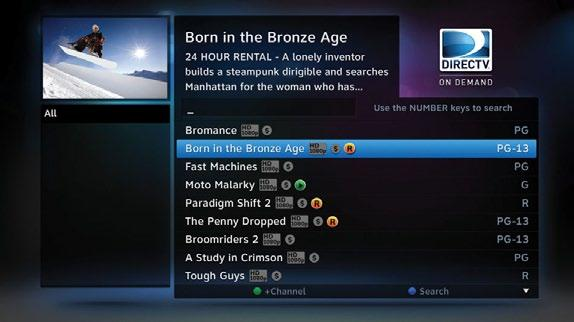 DIRECTV HD DVR RECEIVER USER GUIDE All scheduled records/downloads (with the exception of In Theaters titles), as well as those that are ready to watch, are displayed in the Playlist.