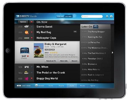 DIRECTV HD DVR RECEIVER USER GUIDE DIRECTV IPAD APP Now your favorite shows, movies and sports are just a tap away.