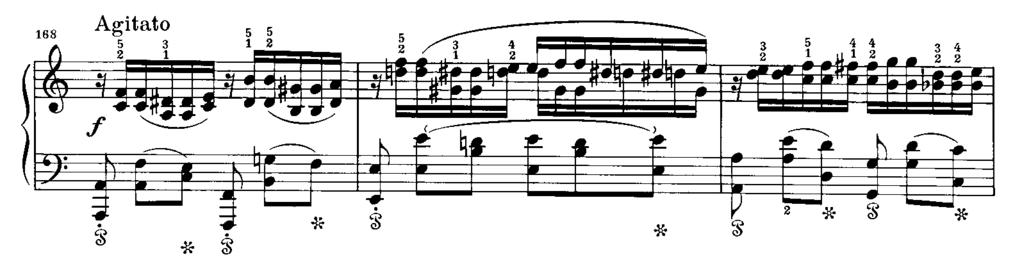 23, mm. 206-210. 39 Example 4. F. Chopin, Ballade No.2 in F Major, Op.38, mm. 164-170. 40 38 In the Ballade No.