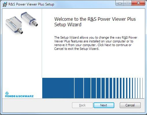 6.2 Software Installation Installation on Windows-Based Systems Since fall 2015 the Power Viewer Plus is not part of the R&S NRP Toolkit anymore. Instead it is now a separate installer package.