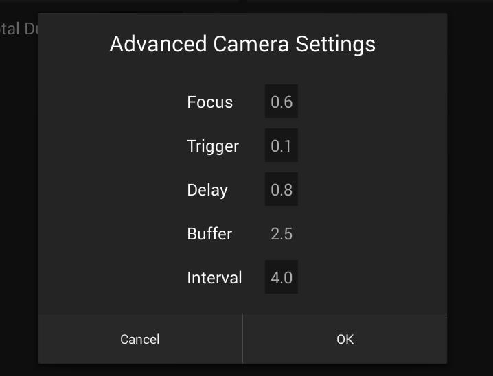 THE NMX MOTION APP Timelapse: Advanced Camera Settings To fully understand how the NMX controls your camera, it is important to know the activities that occur during an interval cycle.