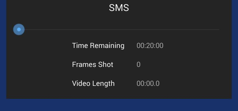 To increase or decrease the speed of the motors or to directly set a desired shot duration edit the number of seconds displayed here.
