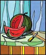 10. Make a drum from a watermelon. Cut the melon in half. Eat the red part and save the rind. Float the rind round side up in a big bowl of water. Hit the rind with a stick or carrot.