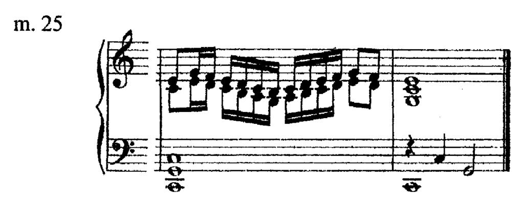 The repartendum closes with a passage in parallel thirds in the right hand alone, a type of figure not often found in Philips works, though common in Sweelinck and Bull (Ex. 13). Example 13.